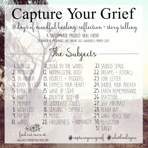 Capture Your Grief, Day 5: Empathy